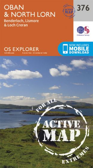 OS Explorer Active - 376 - Oban & North Lorn