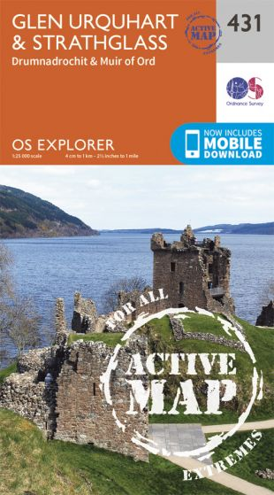 OS Explorer Active - 431 - Glen Urquhart & Strathglass