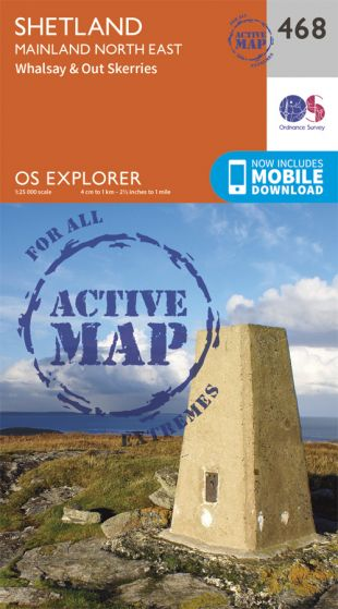 OS Explorer Active - 468 - Shetland - Mainland North East