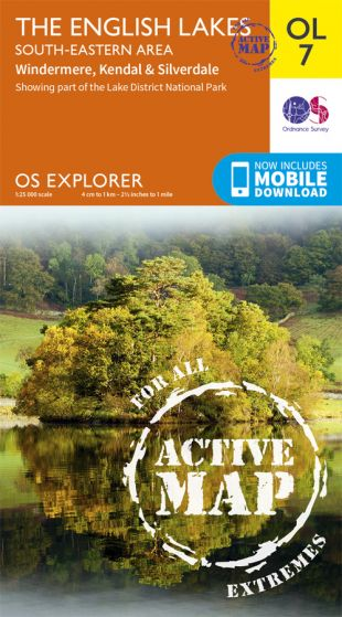 OS Explorer Active - 7 - The English Lakes - South Eastern