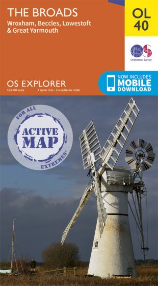 OS Explorer Active - 40 - The Broads