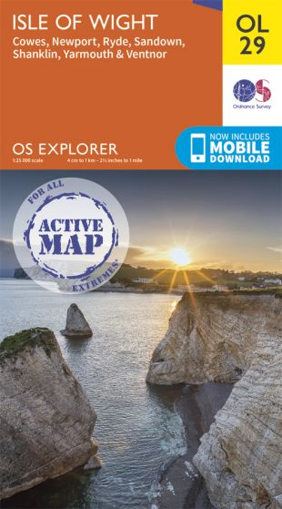 OS Explorer Active - 29 - Isle of Wight