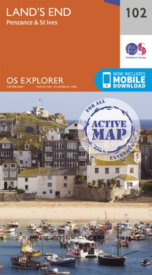 OS Explorer Active - 102 - Land's End