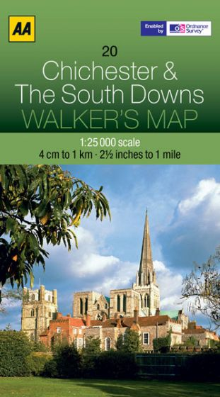 AA - Walker's Map 20 - Chichester & The South Downs