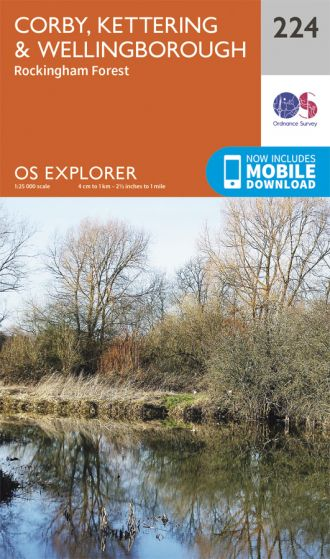 OS Explorer - 224 - Corby, Kettering & Wellingborough