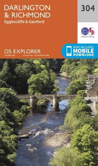 OS Explorer - 304 - Darlington & Richmond