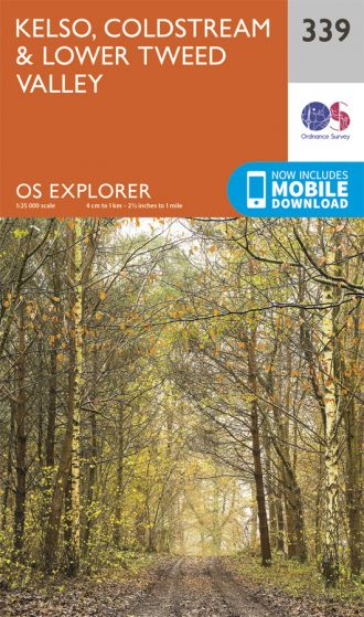 OS Explorer - 339 - Kelso, Coldstream & lower Tweed Valley