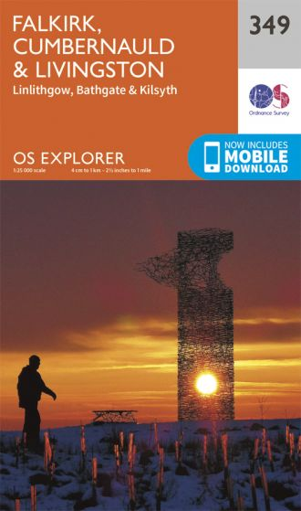 OS Explorer - 349 - Falkirk, Cumbernauld & Livingston