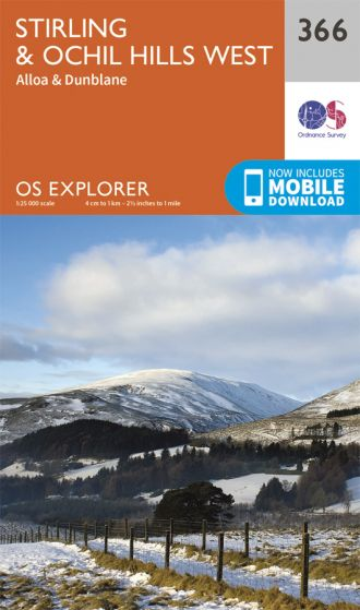 OS Explorer - 366 - Stirling & Ochil Hills West