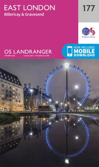 OS Landranger - 177 - East London, Billericay & Gravesend