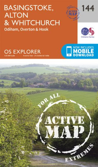 OS Explorer Active - 144 - Alton & Whitchurch. Odiham