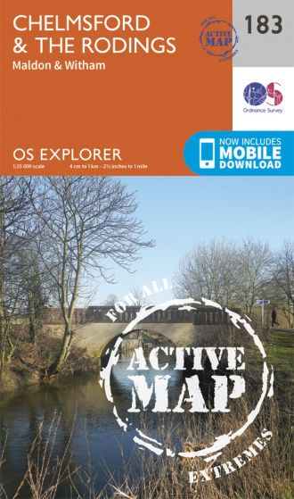 OS Explorer Active - 183 - Chelmsford & The Rodings