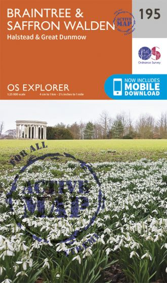OS Explorer Active - 195 - Braintree & Saffron Walden