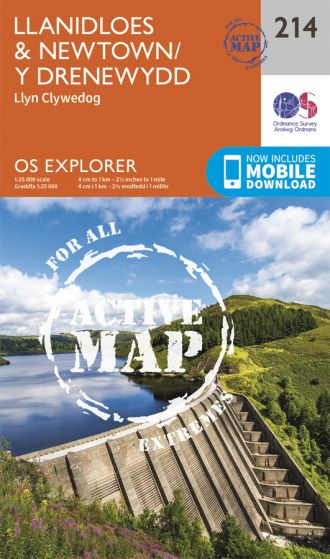 OS Explorer Active - 214 - Llanidloes & Newtown