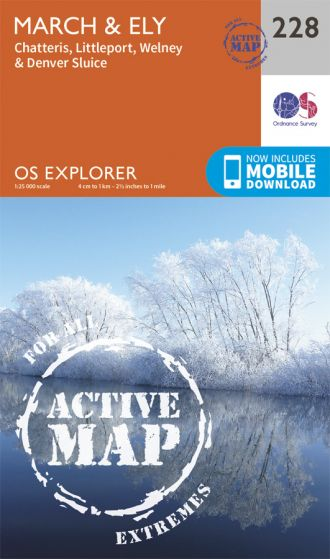 OS Explorer Active - 228 - March & Ely