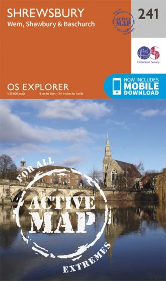 OS Explorer Active - 241 - Shrewsbury
