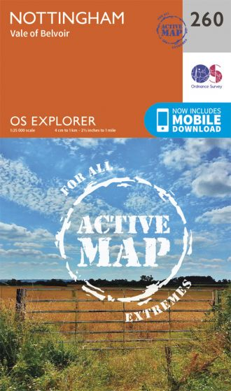 OS Explorer Active - 260 - Nottingham