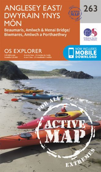 OS Explorer Active - 263 - Anglesey East