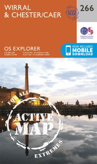 OS Explorer Active - 266 - Wirral & Chester