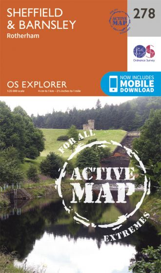OS Explorer Active - 278 - Sheffield & Barnsley