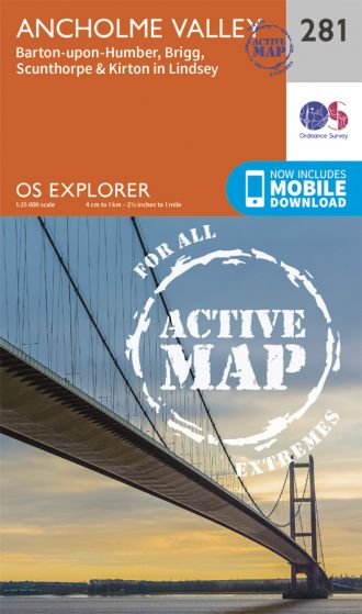 OS Explorer Active - 281 - Ancholme Valley