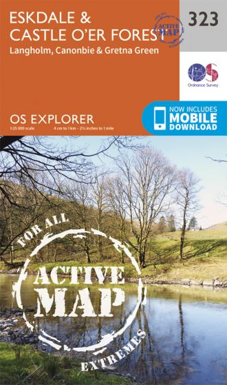 OS Explorer Active - 323 - Eskdale & Castle O'er Forest