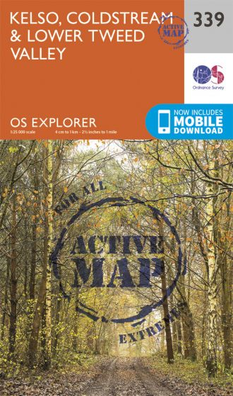 OS Explorer Active - 339 - Kelso, Coldstream & lower Tweed Valley