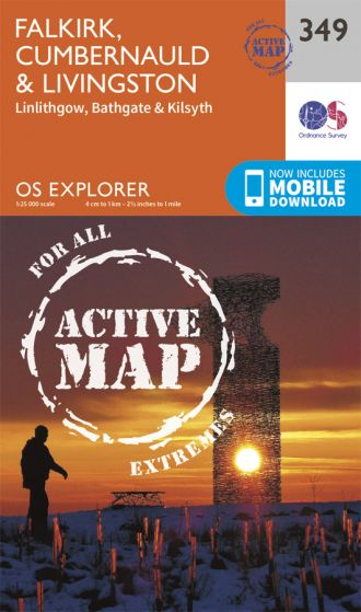 OS Explorer Active - 349 - Falkirk, Cumbernauld & Livingston