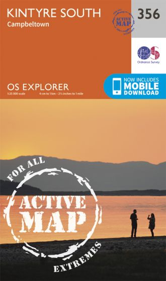 OS Explorer Active - 356 - Kintyre South Campeltown