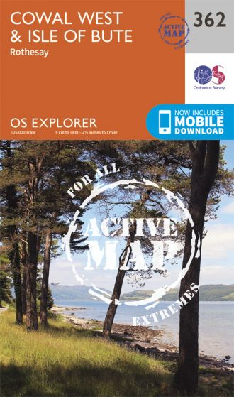 OS Explorer Active - 362 - Cowal West & Isle of Bute