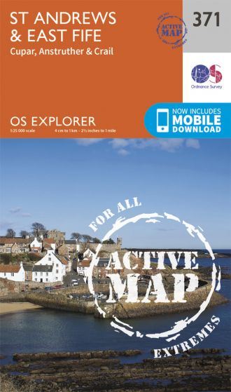 OS Explorer Active - 371 - St Andrews & East Fife