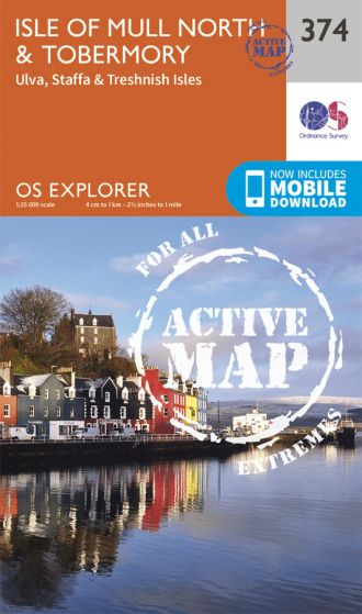 OS Explorer Active - 374 - Isle of Mull North & Tobermory