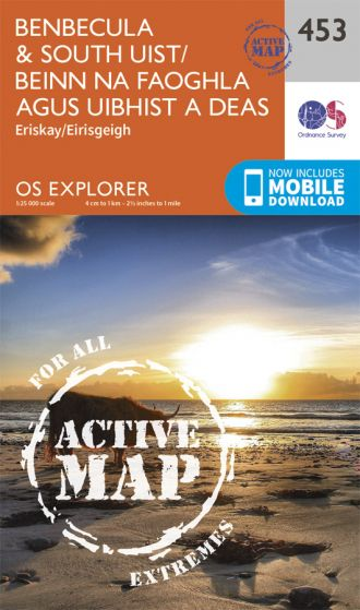 OS Explorer Active - 453 - Benbecula & South Uist