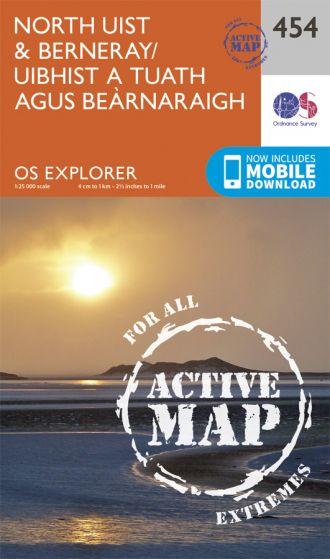 OS Explorer Active - 454 - North Uist & Berneray