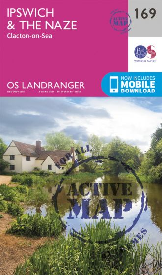 OS Landranger Active - 169 - Ipswich, The Naze