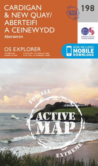 OS Explorer Active - 198 - Cardigan & New Quay