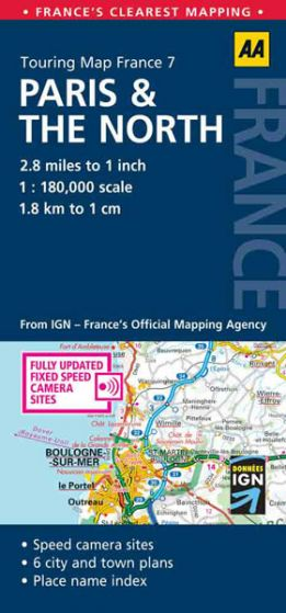 AA - Touring Map France - Paris & The North