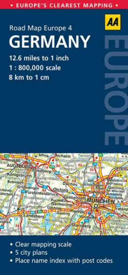 AA - Road Map Europe - Germany