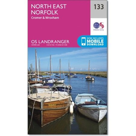 OS Landranger - 133 - North East Norfolk, Cromer & Wroxham