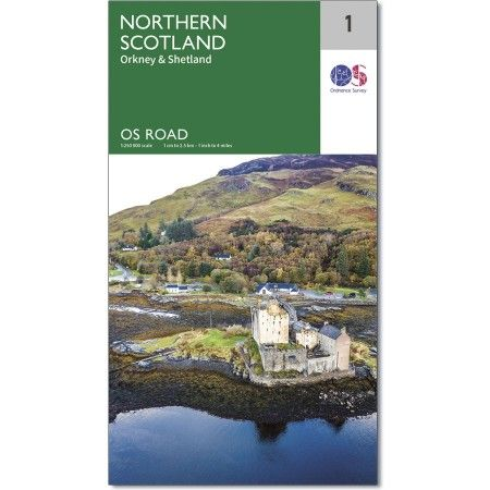 OS Road Map - 1 - North Scotland, Orkney & Shetland