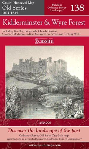 Cassini Old Series - Kidderminster & Wyre Forest (1831-1834)