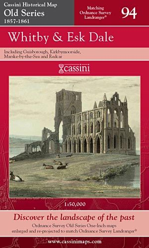 Cassini Old Series - Whitby & Esk Dale (1857-1861)