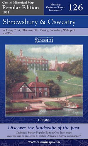 Cassini Popular Edition - Shrewsbury & Oswestry (1921)