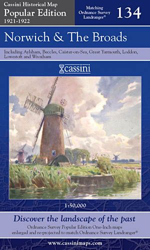 Cassini Popular Edition - Norwich & The Broads (1921-1922)