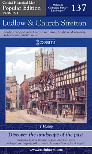 Cassini Popular Edition - Ludlow & Church Stretton (1920-1921)