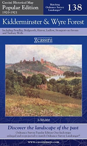 Cassini Popular Edition - Kidderminster & Wyre Forest (1920-1921)