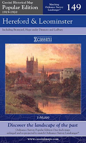 Cassini Popular Edition - Hereford & Leominster (1919-1920)