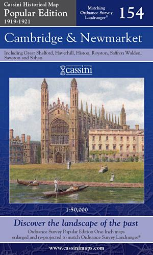 Cassini Popular Edition - Cambridge & Newmarket (1919-1921)