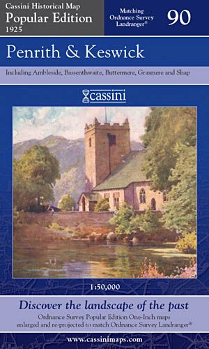 Cassini Popular Edition - Penrith & Keswick (1925)