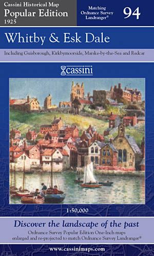 Cassini Popular Edition - Whitby & Esk Dale (1925)